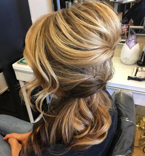 Two-Tier Bouffant Half Updo