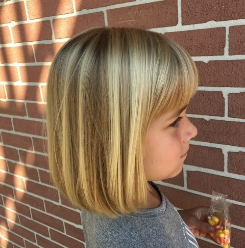 Blonde Bob With A Fringe For Girls