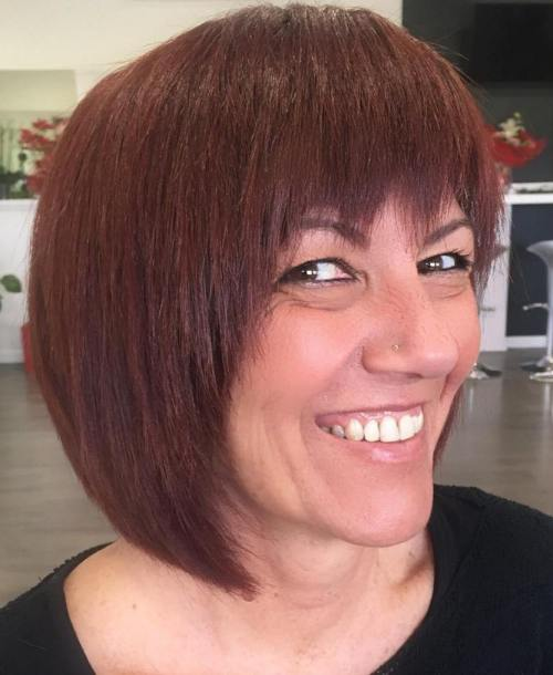 Razored Bob With Bangs