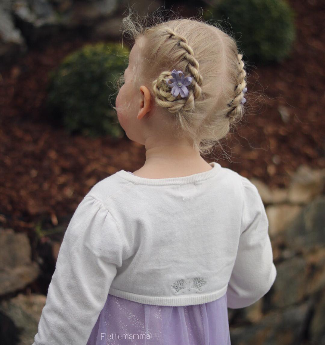 Toddler Updo Hairstyle