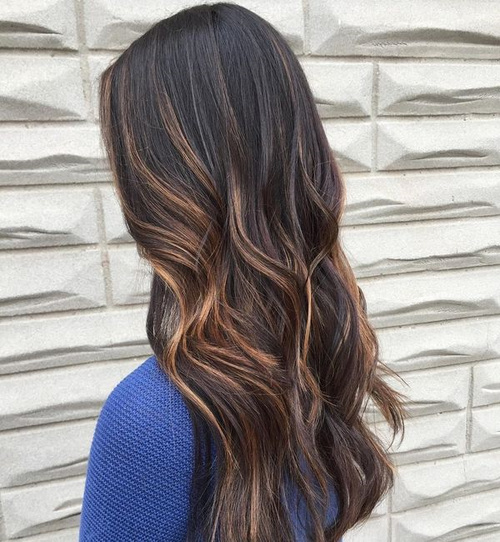 60 looks with caramel highlights on brown and dark brown hair black hair with caramel highlights pmusecretfo Gallery
