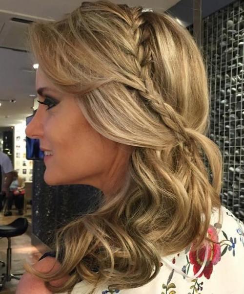 Half Up Hairstyle For Medium Hair