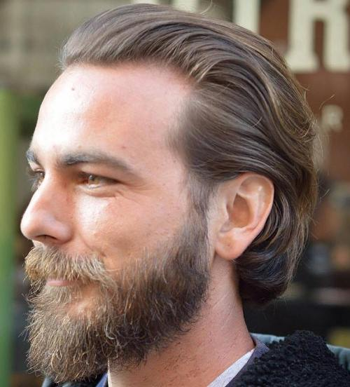 Men's Medium Hair With Facial Hairstyle