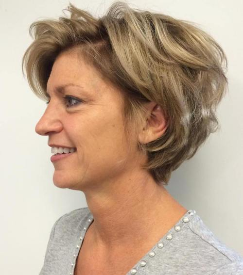 Short Curly Bob Over 50