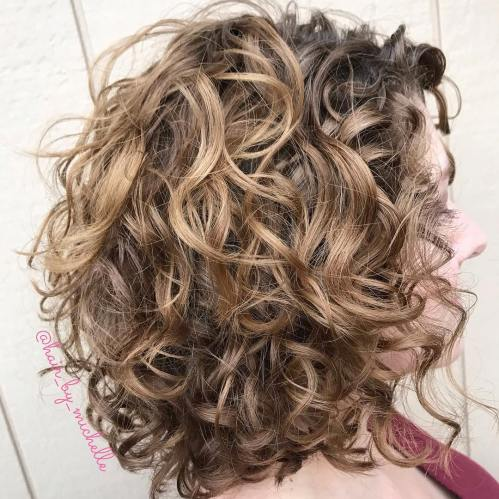 Voluminous Tousled Lob Hairstyle