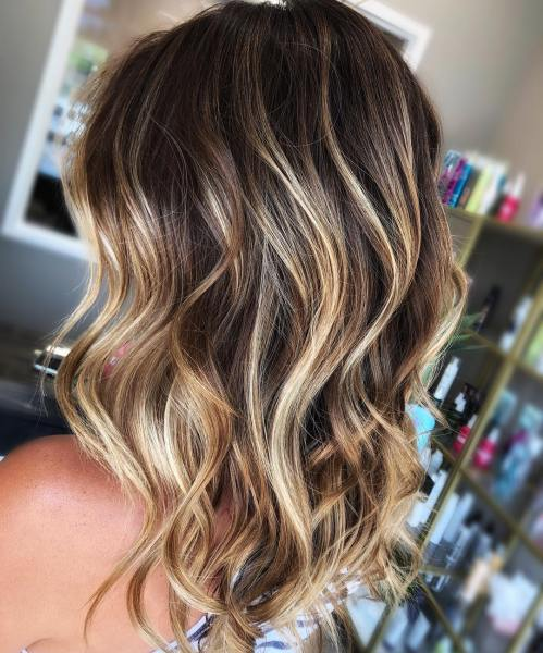 Blonde Balayage for Dark Hair