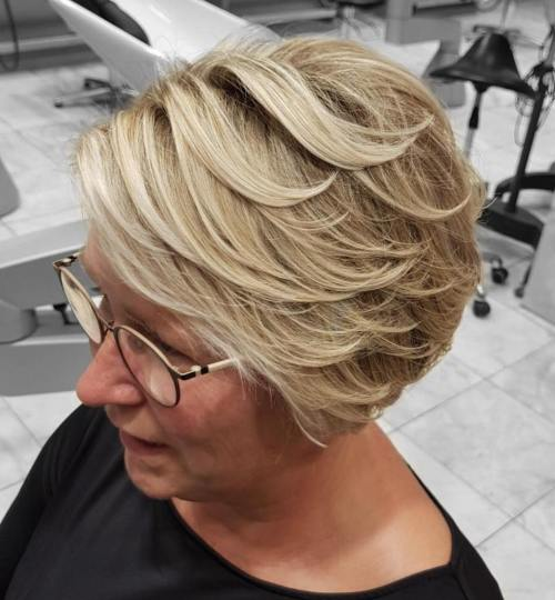 Long Blonde Pixie With Piecey Layers