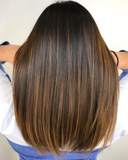 Warm Brown Balayage Hair