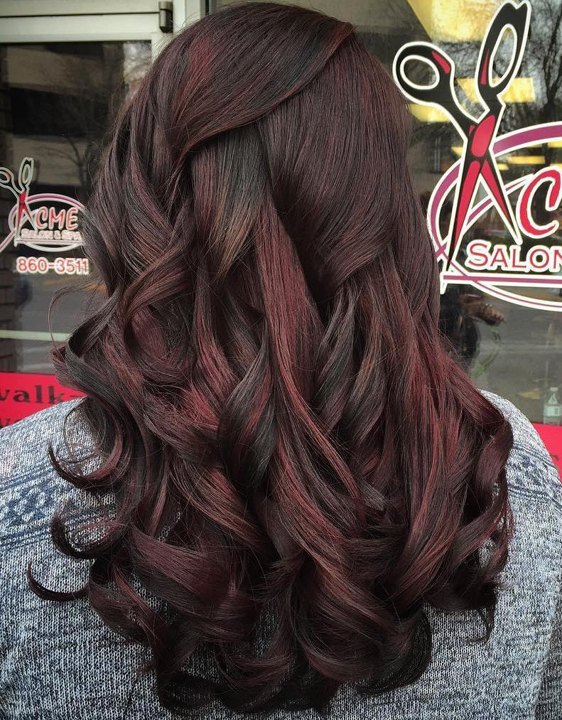 60 chocolate brown hair color ideas for brunettes black hair with subtle red highlights pmusecretfo Images