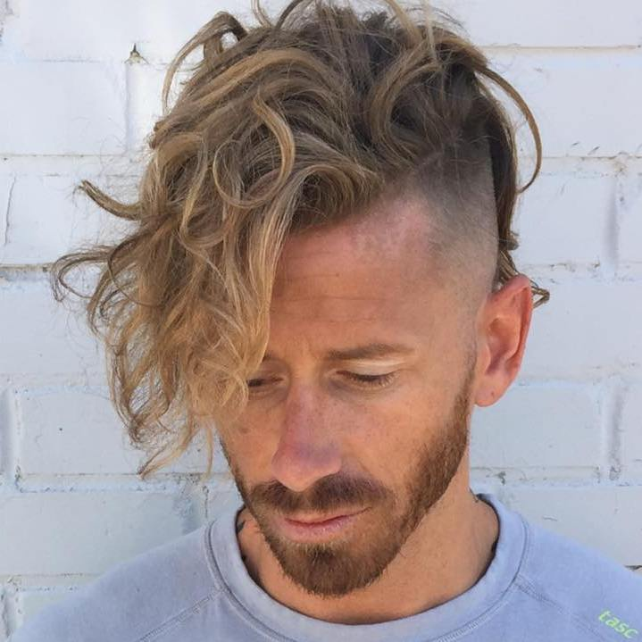 Long Top Shaved Sides Hairstyle