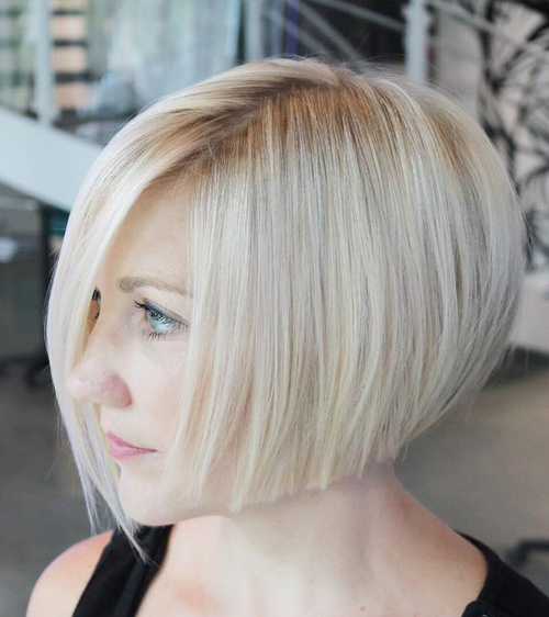 Chin-Length Blonde Bob