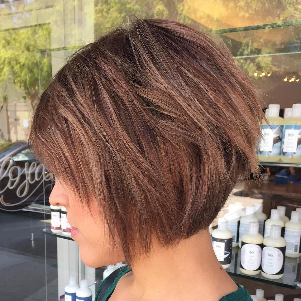 Choppy Brown Bob With Subtle Highlights