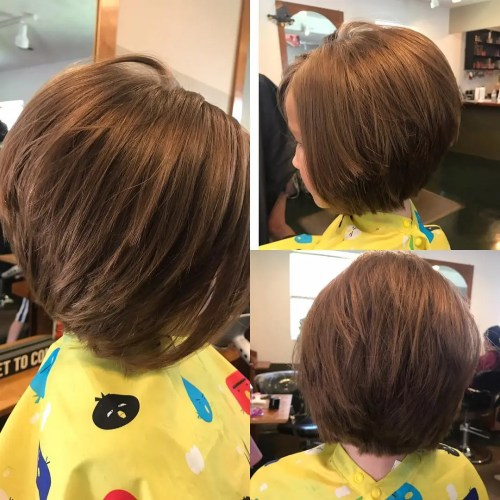 Kids' Layered Bob Hairstyle