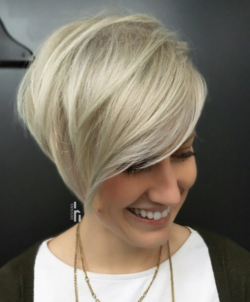 Long Layered Pixie With Bangs