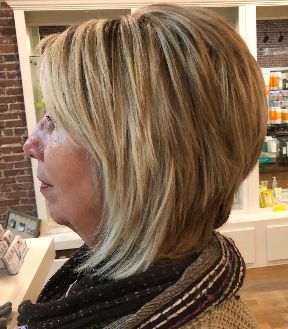 Short To Medium Layered Hairstyles For Over 50