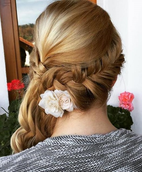45 side hairstyles for prom to please any taste side braid updo for prom pmusecretfo Image collections