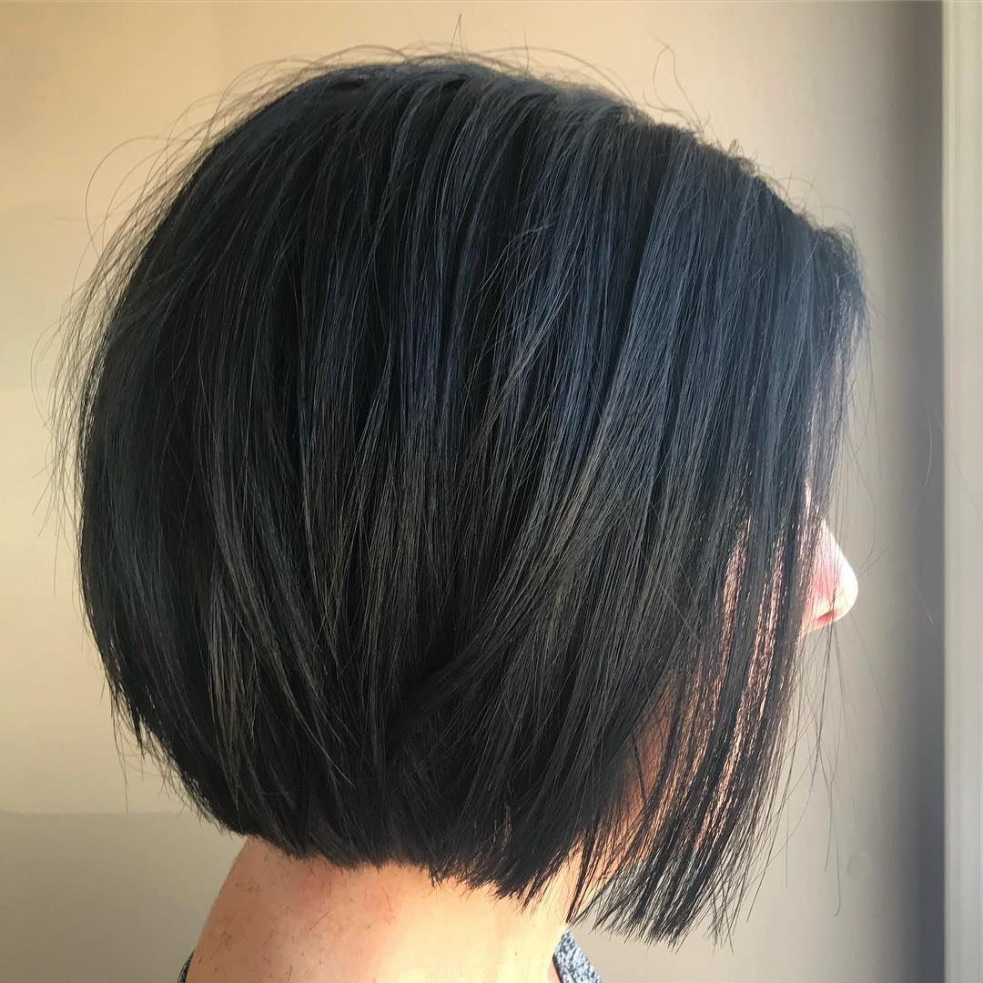 Brunette Layered Bob Without Bangs