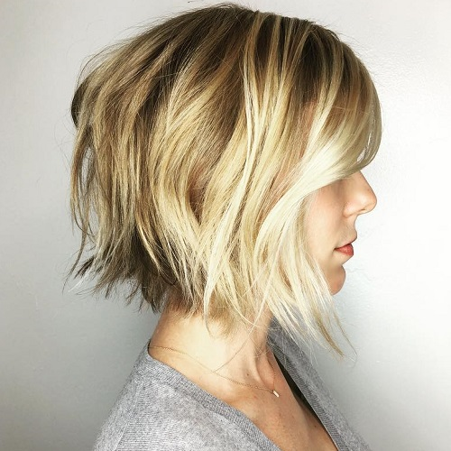 Choppy Balayage Bob