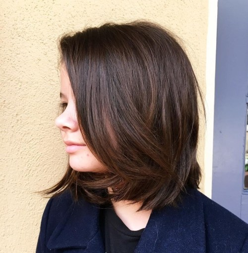 Cute Long Brown Bob