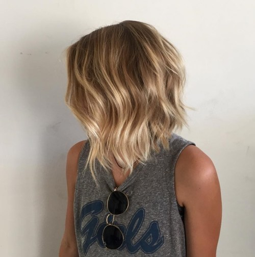 Honey Blonde Wavy Bob