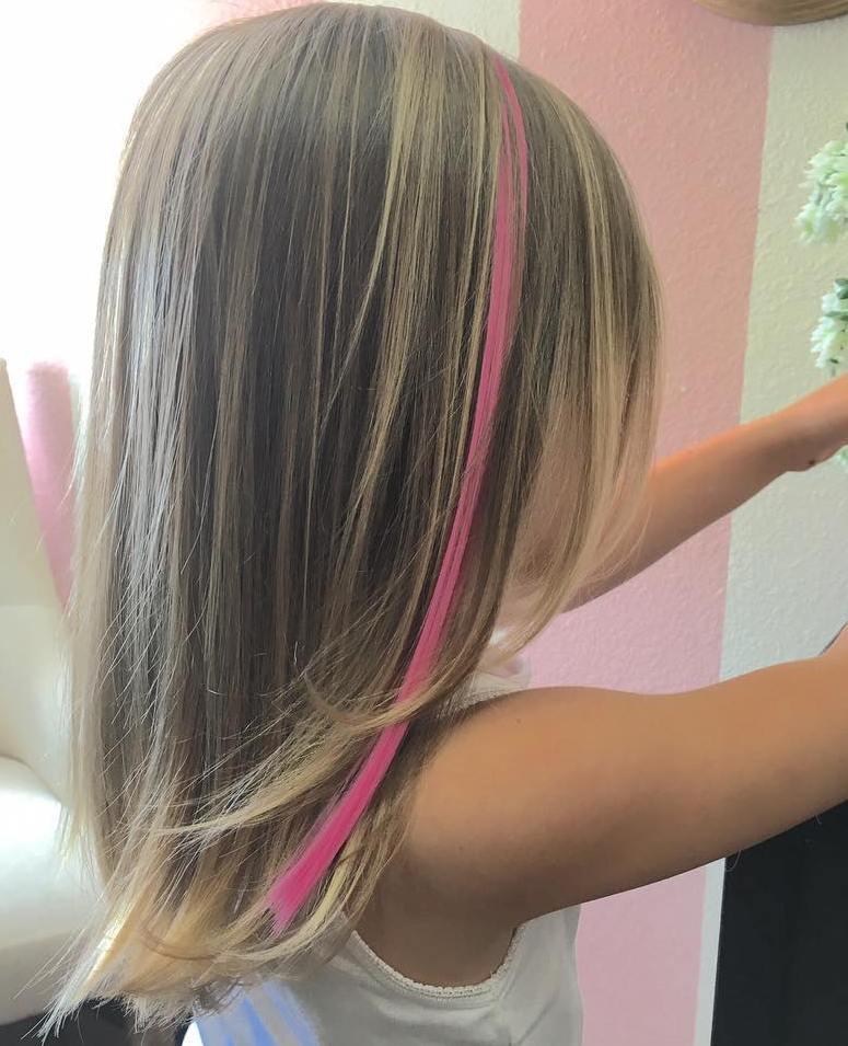 Medium Layered Girlsu0027 Haircut