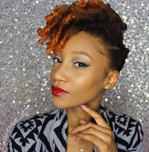 55 styles and cuts for naturally curly hair in 2017 natural black hair with copper ends pmusecretfo Images