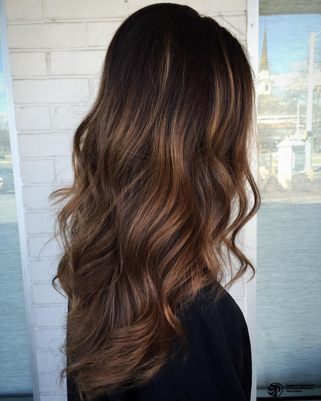 Brown Balayage Long Layered Hair