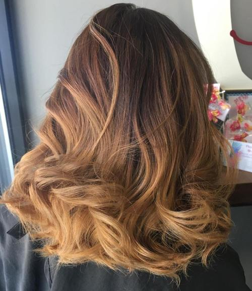 60 looks with caramel highlights on brown and dark brown hair brown to caramel ombre hair urmus Image collections