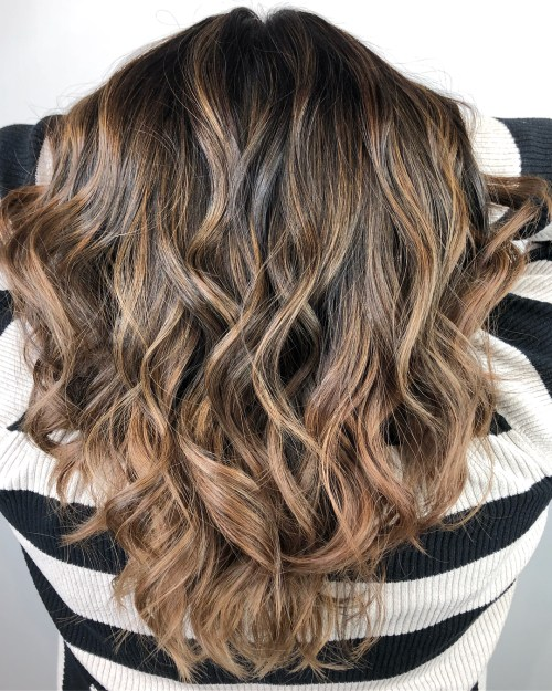 Subtle Golden Highlights For Brown Hair