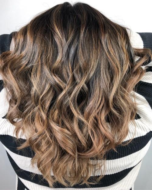 Subtle Golden Highlights For Brown Hair