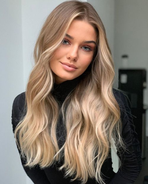 Dirty Blonde with Face-Framing Blonde Highlights