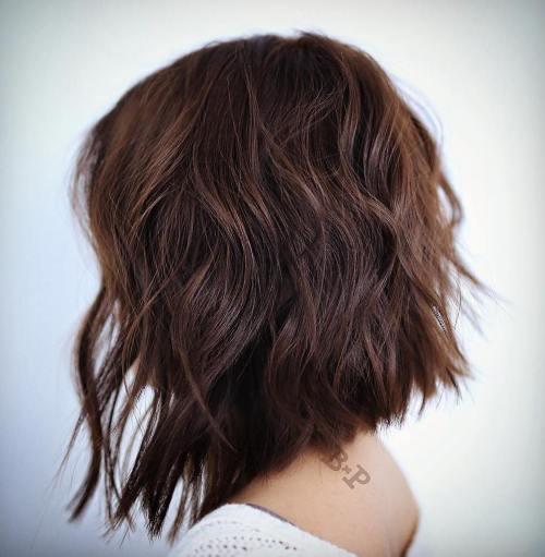Angled Choppy Bob Haircut