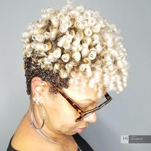 Short Natural Two-Tone Hairstyle
