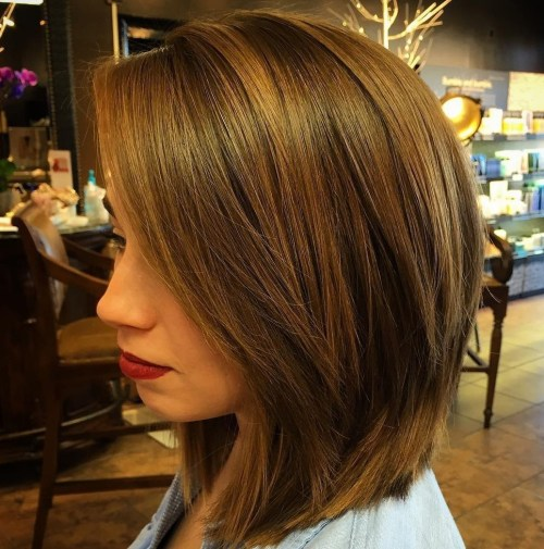 Sleek Lob With Long Layers