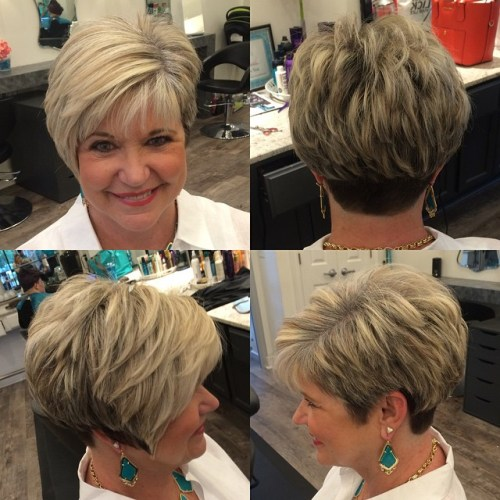 Best Short Haircuts For Round Faces Female