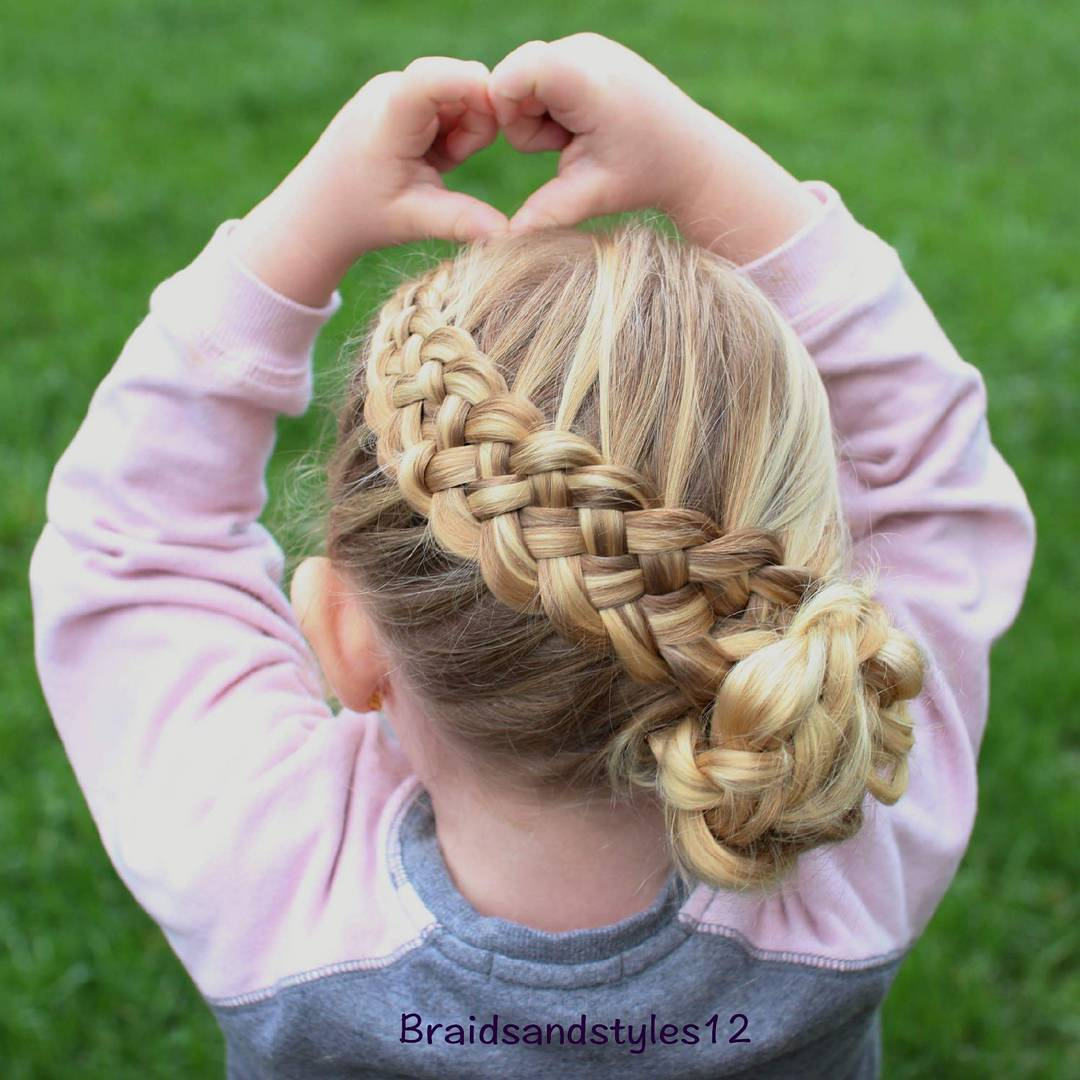Basket Weave Braid For Little Girls