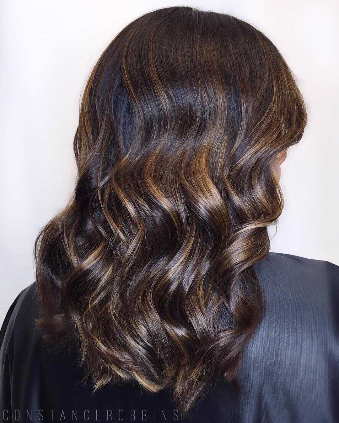 Black Hair With Golden Brown Highlights