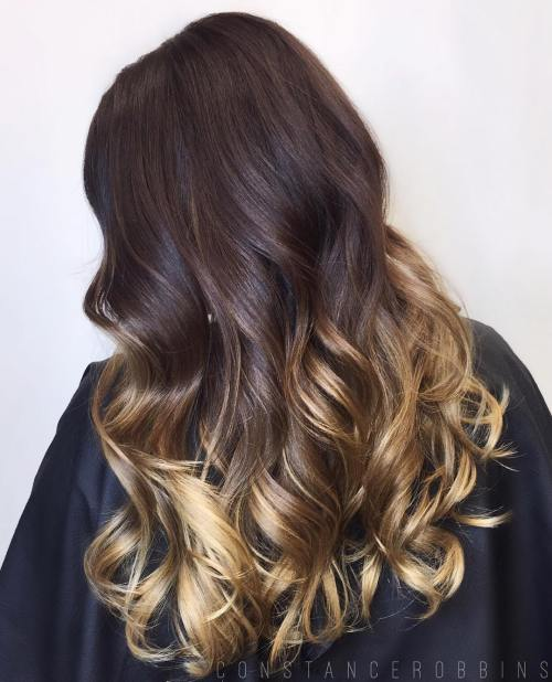 60 best ombre hair color ideas for blond brown red and black hair brown hair with golden blonde ombre urmus Image collections