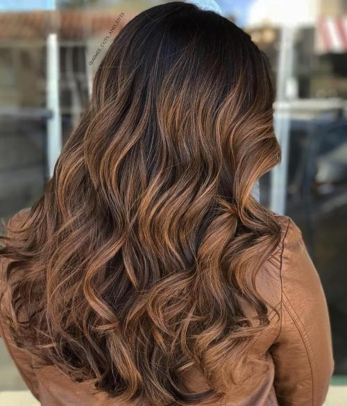 Caramel Balayage For Brunette Hair