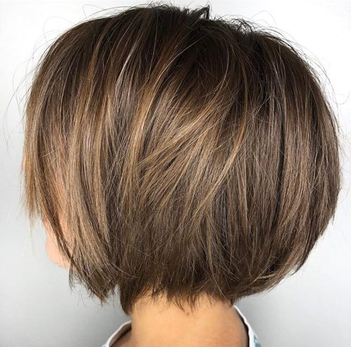 Cute Razored Brown Bob