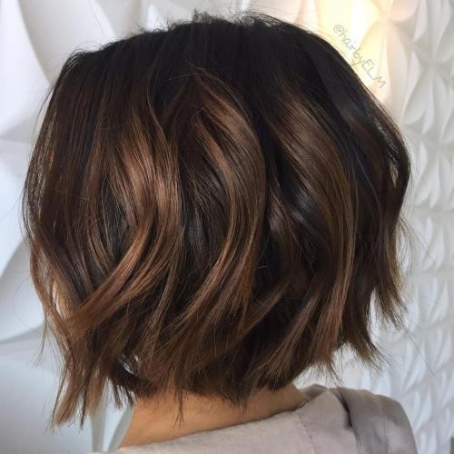 60 chocolate brown hair color ideas for brunettes - Balayage bob braun ...