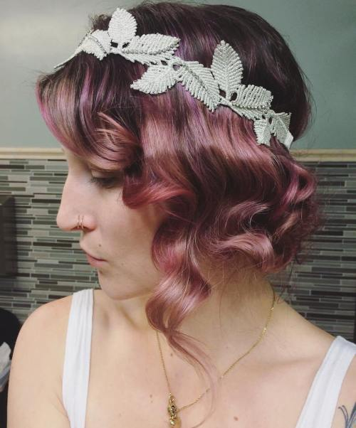 Rosewood Curly Vintage Updo
