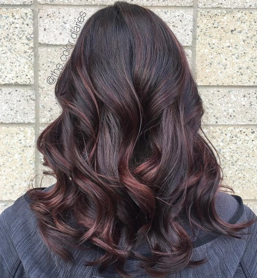 Subtle Burgundy Highlights