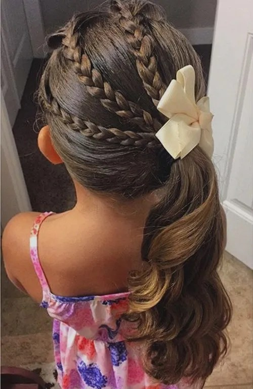 Magnificent 40 Cool Hairstyles For Little Girls On Any Occasion Hairstyles For Women Draintrainus