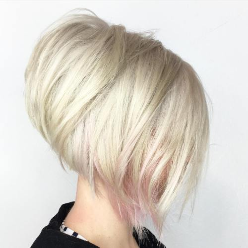 Inverted Blonde Bob