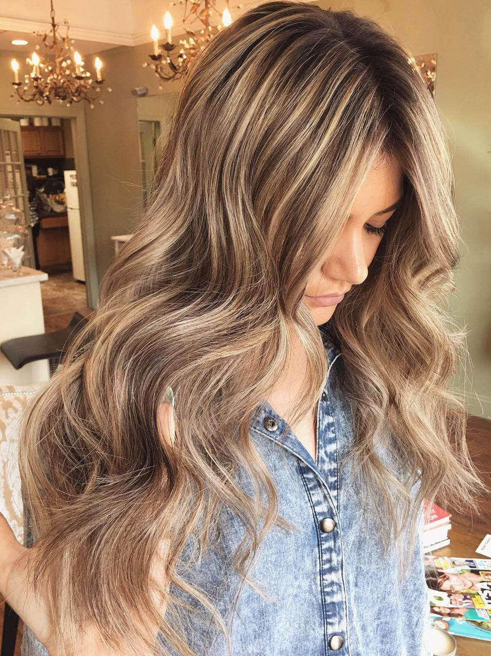 Long Brown Hair With Blonde Highlights & 50 Light Brown Hair Color Ideas with Highlights and Lowlights