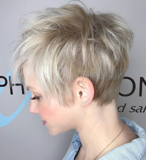 Short Choppy Layered Pixie