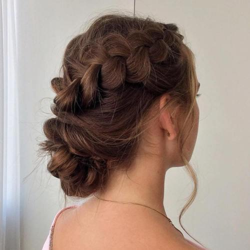 Side Twisted Bun Updo
