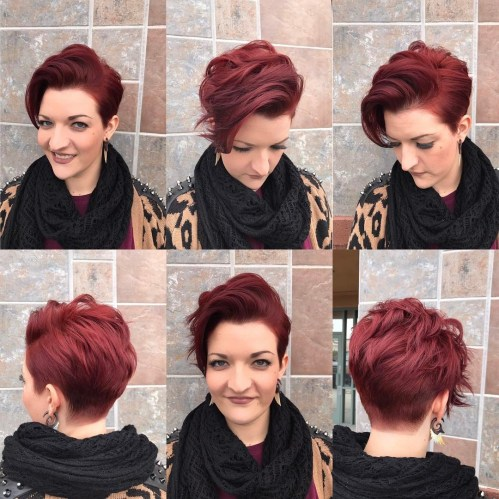 Pretty Pixie Cut with Choppy Layers
