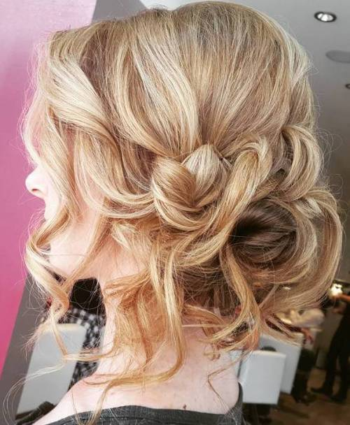 Loose Messy Curly Updo